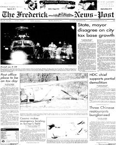 frederick-news-post, April 16, 2002, Page 1